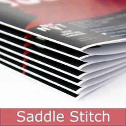 Saddle stitch booklet