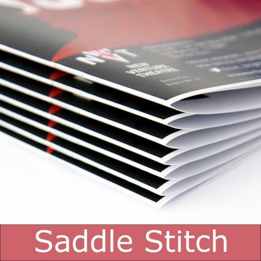 Saddle stitch booklet